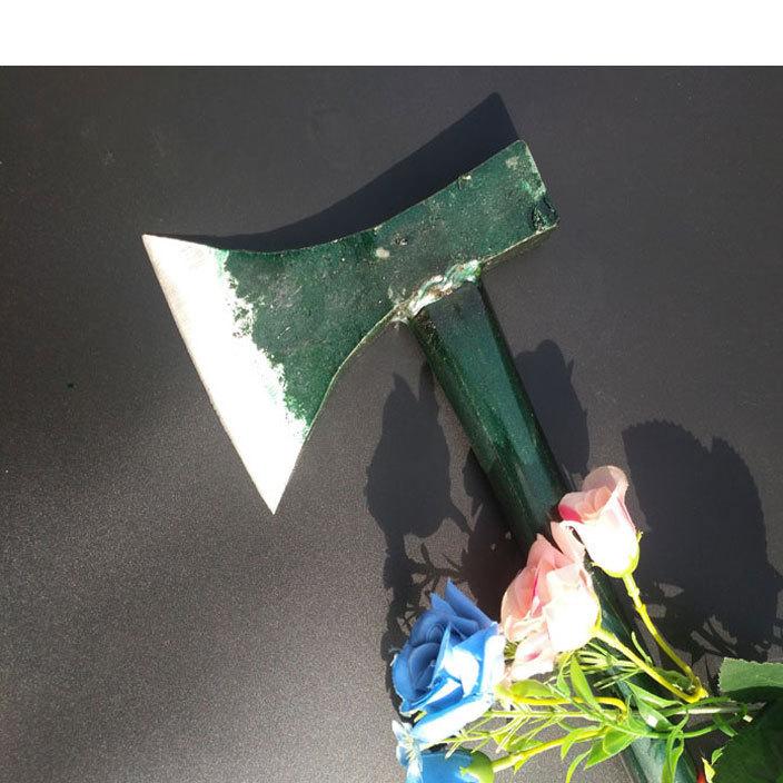 厂家直销绿铁柄快口斧子   夹固斧头 伐木斧子开山斧子
