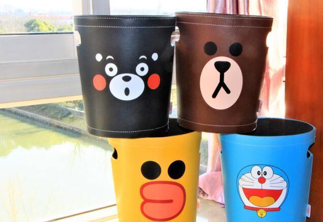 卡通可爱欧式厨房客厅儿童房家用垃圾桶卫生间废纸篓收纳桶杂物桶