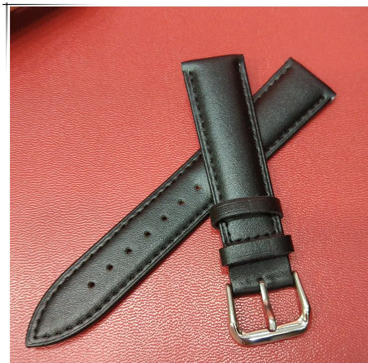 招财蜍真皮表带针扣手表带 男女通用手表表带配件需订货
