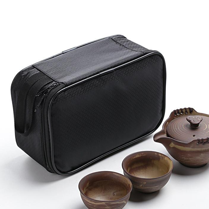 窑变茶具陶瓷仿古创意快客一壶两杯旅行茶具活动促销广告LOGO礼品