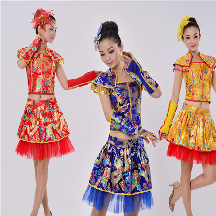 舞蹈演出服装民族服舞蹈服装成人女现代舞古典古筝礼服舞台表演服
