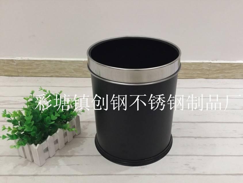 工厂直销 不锈钢客房桶  无盖垃圾桶 宾馆家用垃圾桶 烤漆客房桶