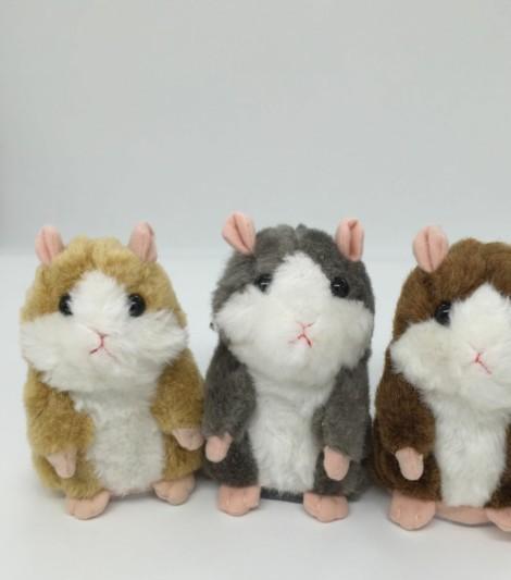 日本版MIMICRY会说话的毛绒仓鼠 录音仓鼠玩具 儿童益智玩具