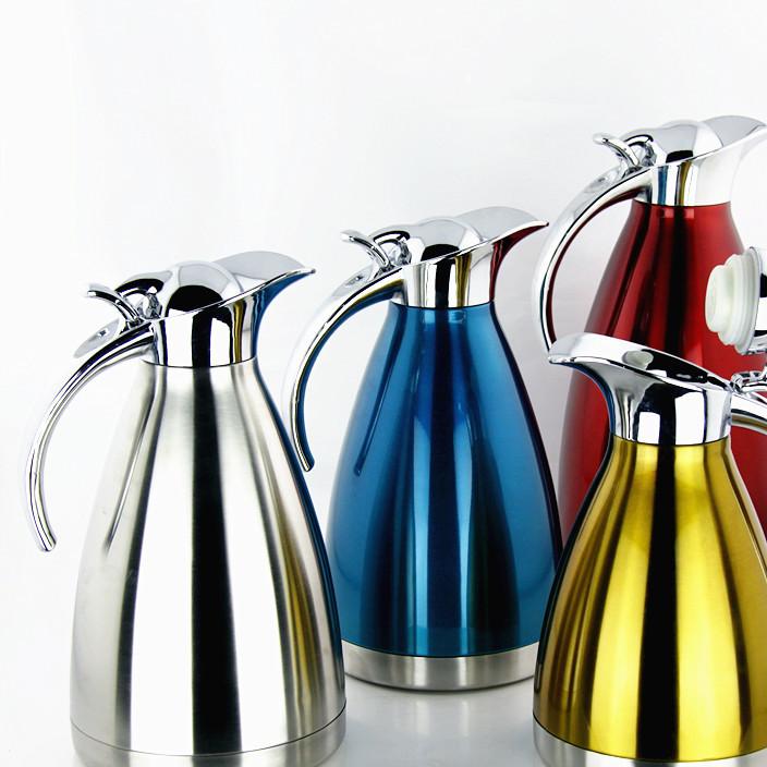 不锈钢真空保温咖啡壶水壶 欧式壶双层保温壶热水瓶茶水壶