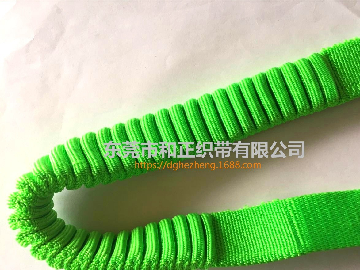 Pet elastic band pet traction rope pig intestines wrinkle elastic band pet stretch dog leash can be customized