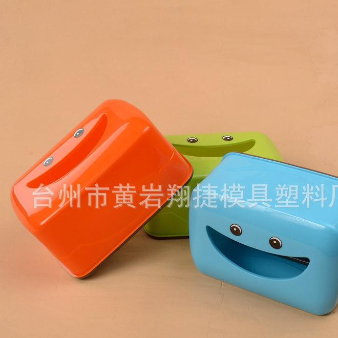 礼品纸巾盒 可爱卡通笑脸纸巾盒抽纸盒 塑料纸巾筒 可印LOGO 叠装