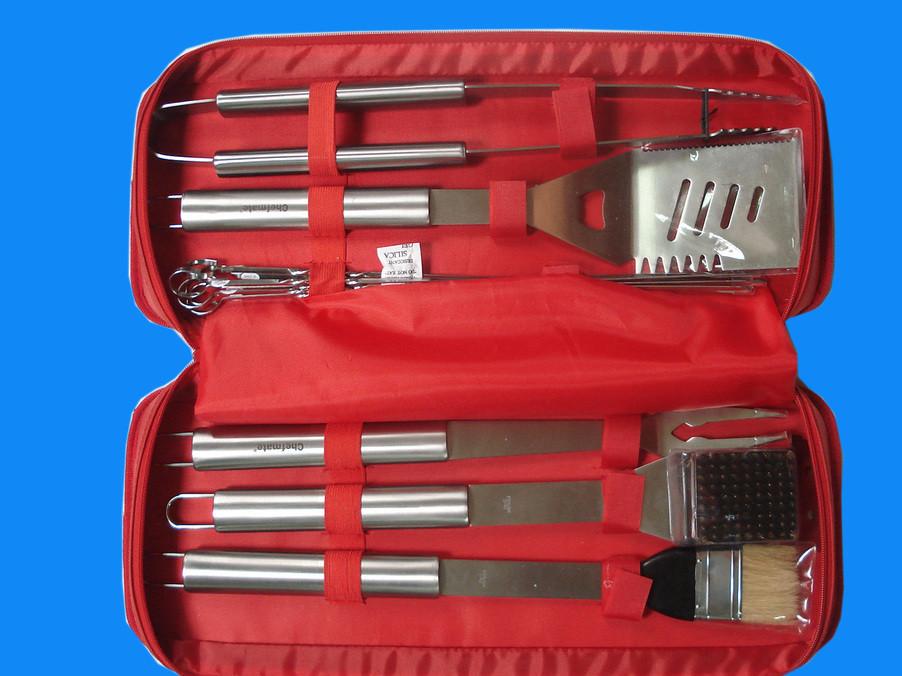 供应组合烤具6件套不锈钢烤具烧烤用具烧烤铲 烧烤工具配套装