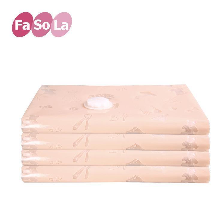 FaSoLa印花压缩袋加厚真空压缩袋 棉被子特大真空收纳袋两色选择
