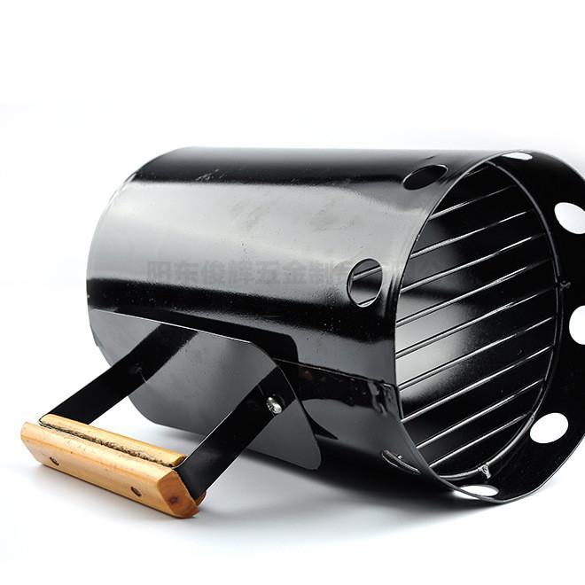 厂家直销耐高温碳桶烧烤炉点碳桶BBQ木碳引火器烧烤用具