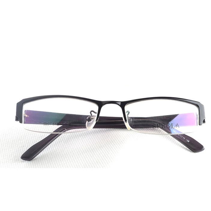 半框商务男士金属眼镜架超薄板材眼睛腿超轻光学眼镜框架丹阳眼镜