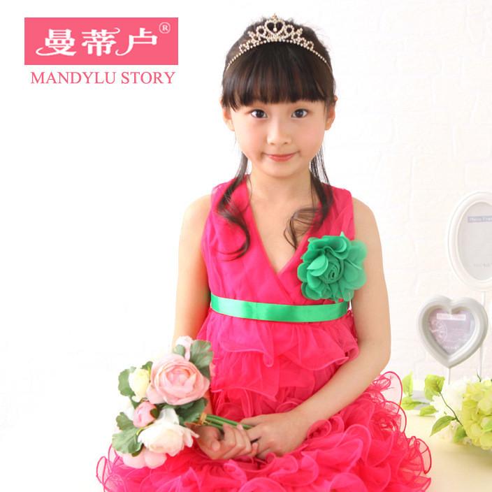 夏款女童礼服裙六一表演礼服裙多款韩版儿童礼服裙超值儿童礼服裙