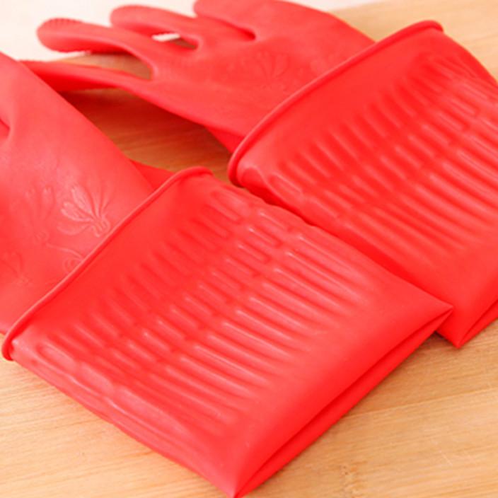 家用防水洗碗家务橡胶手套 韩国胶皮洗衣服乳胶手套