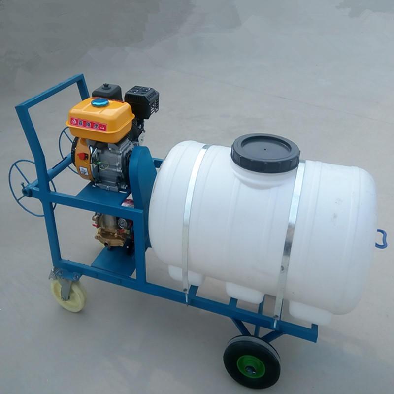 圣鲁手推式打药机 汽油拉管打药机 喷雾器