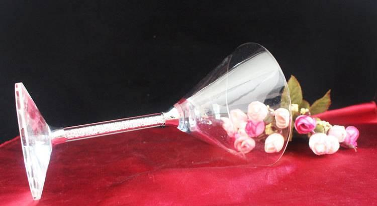 Wholesale high quality wine glass champagne glass goblet crystal diamond wine glass special price
