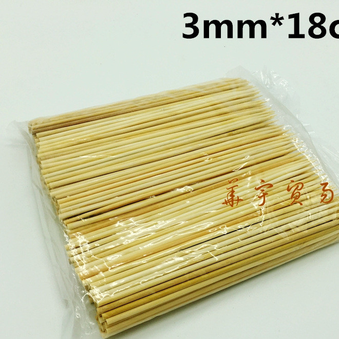 18cm bamboo skewers BBQ long bamboo skewers spicy lamb kebabs grilled sausage hot dog octopus small balls bamboo skewers wholesale