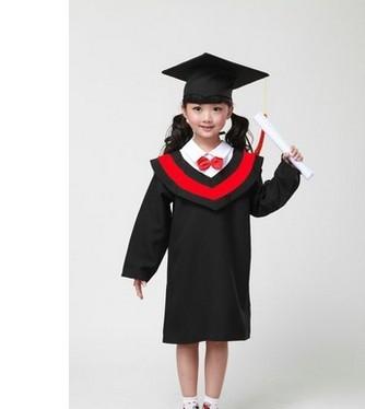 儿童博士服男女学士服小学生演出服装幼儿园毕业照表演礼服批发