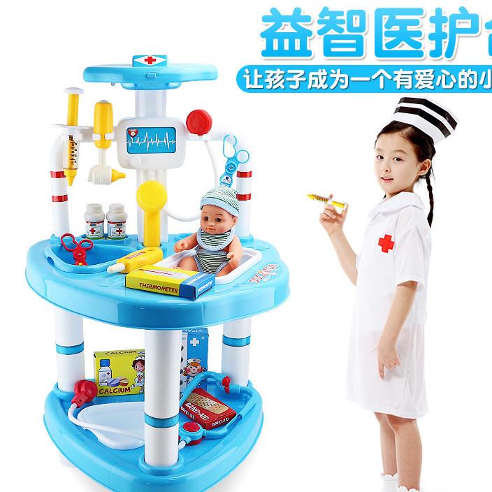 儿童过家家玩具女童仿真医药箱医具箱医生玩具女孩套装打针听诊器