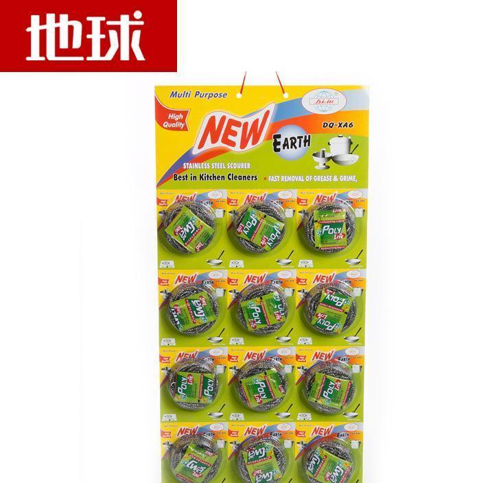 地球大品牌24年工厂不易生锈一根丝洁洗刷12个装不锈钢清洁球