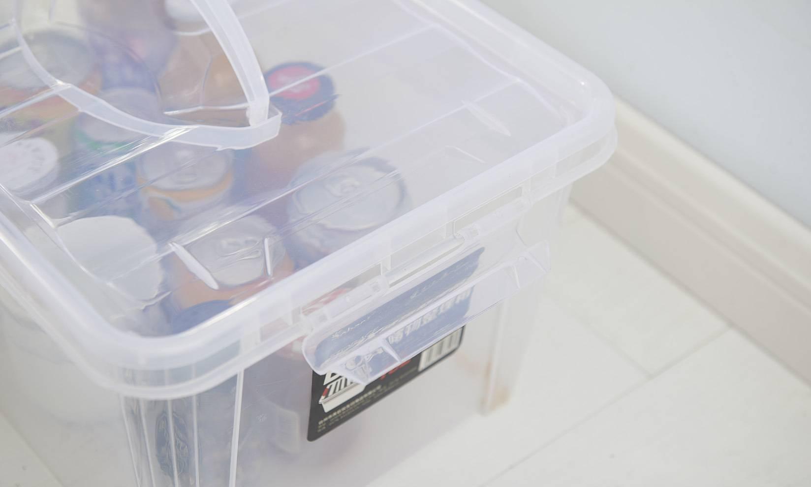 厂家批发塑料透明收纳箱 PP带滑轮整理箱组合杂物箱带手提医药箱
