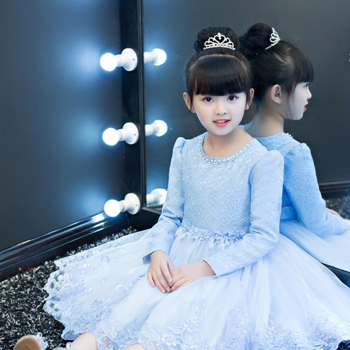 童裙新款冬加绒加厚连衣裙女童公主礼服蓬蓬裙主持花童舞台表演服
