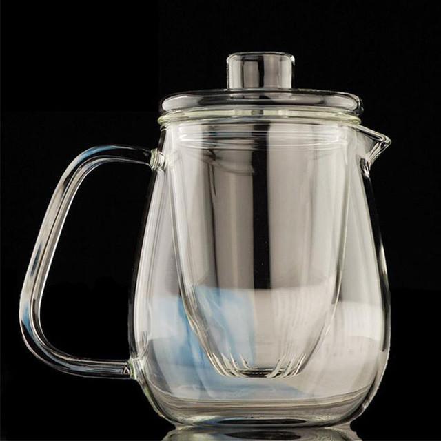 鸭嘴壶功夫茶具 玻璃茶壶加厚耐热泡茶壶  过滤花茶壶红茶器水壶 批发