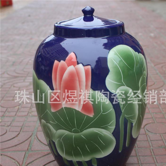 厂家直销陶瓷酒坛米缸20斤50斤100斤厨房家用创意储米罐腌菜缸