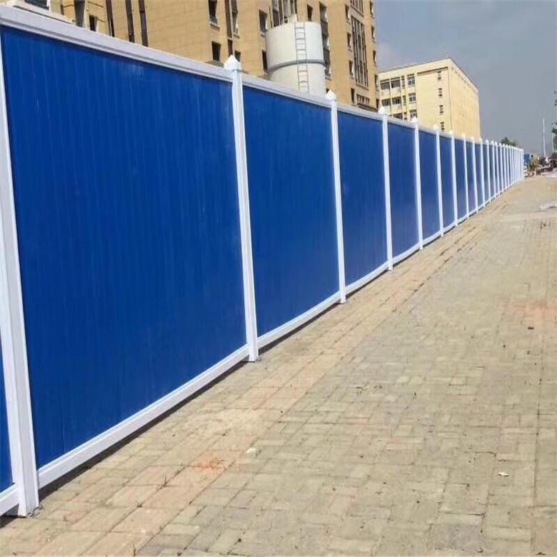 蓝色工地围挡现货直销 工地围挡 德兰工地围挡围墙定制