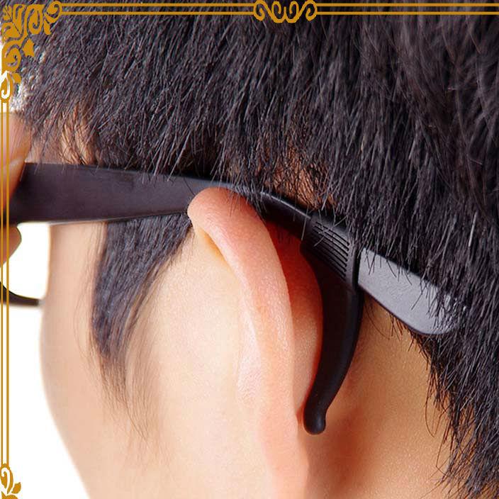 男女通用款硅胶眼镜防滑套 高档眼镜配件硅胶防滑套可定做批发