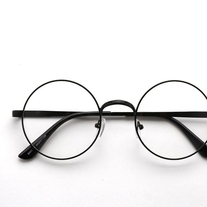 超轻眼镜框女文艺复古圆形近视眼镜架男女全框金属装饰眼镜架