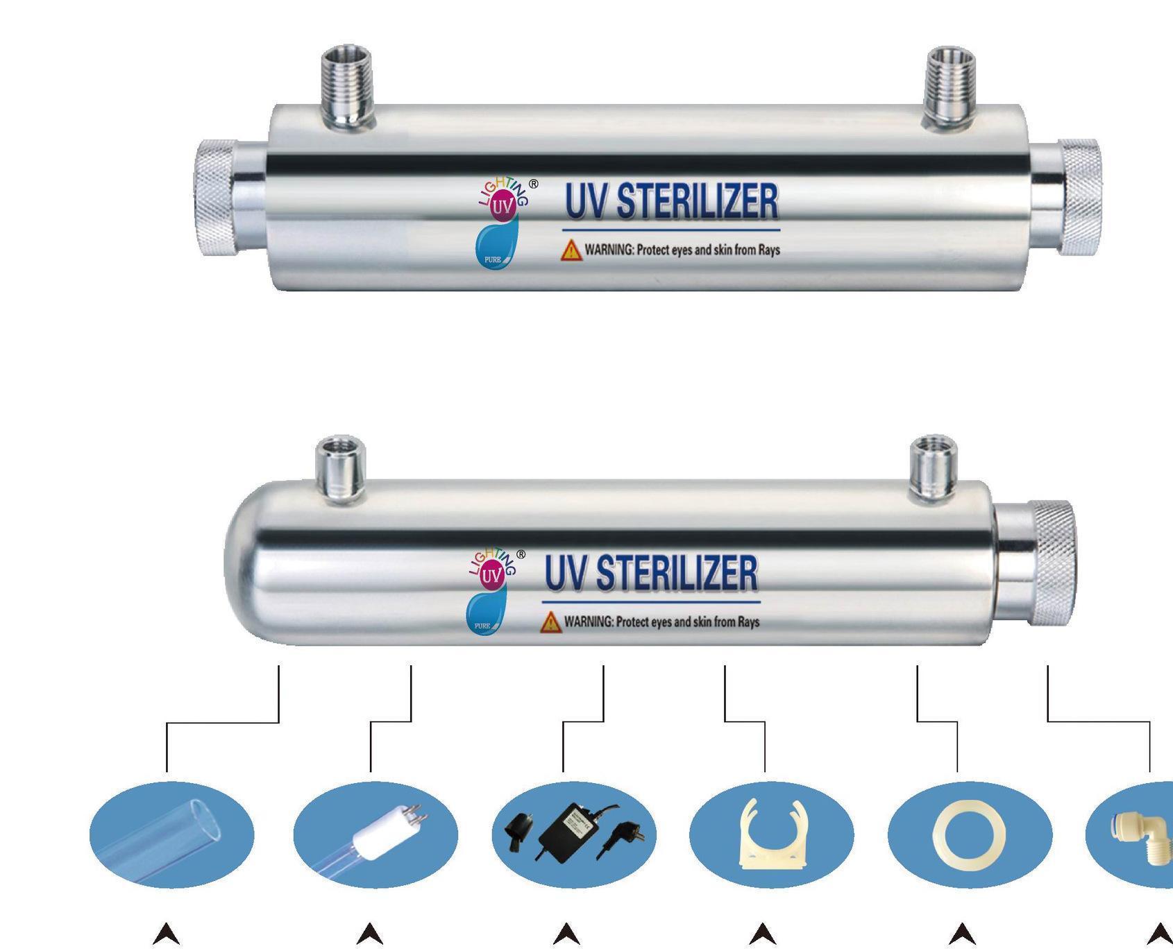 厂家供应紫外线杀菌器,16W,高效、环保,商用饮水机、RO机专用