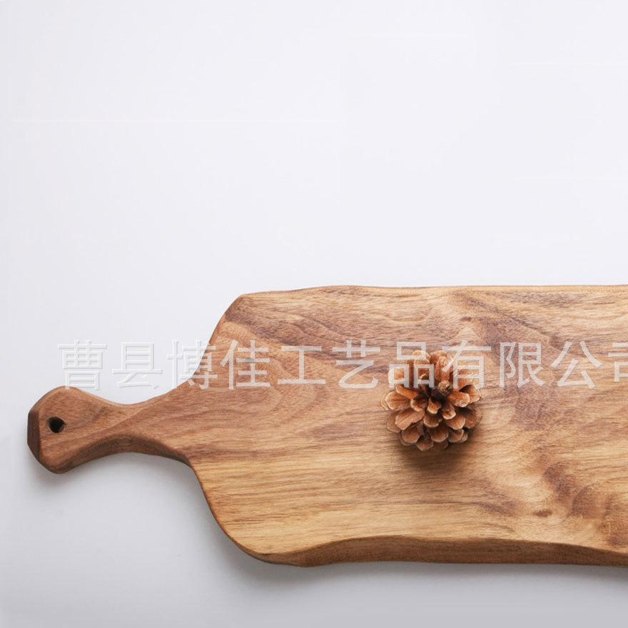 家居日用百货厨具 进口榉木切菜板面包板 实木砧板 披萨板 批发