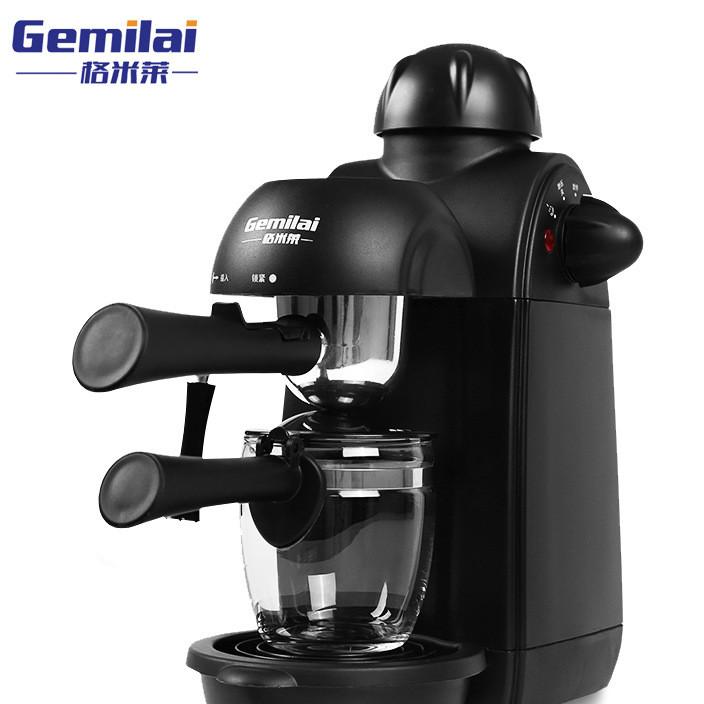 格米莱2008家用意式咖啡机 半自动蒸汽泵压式咖啡机 现磨打奶泡