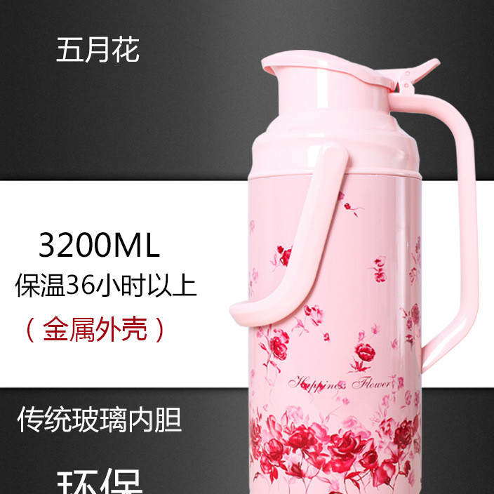 Mayflower 3.2-liter large-capacity traditional glass vacuum vessel traditional insulated kettle office kettle student kettle
