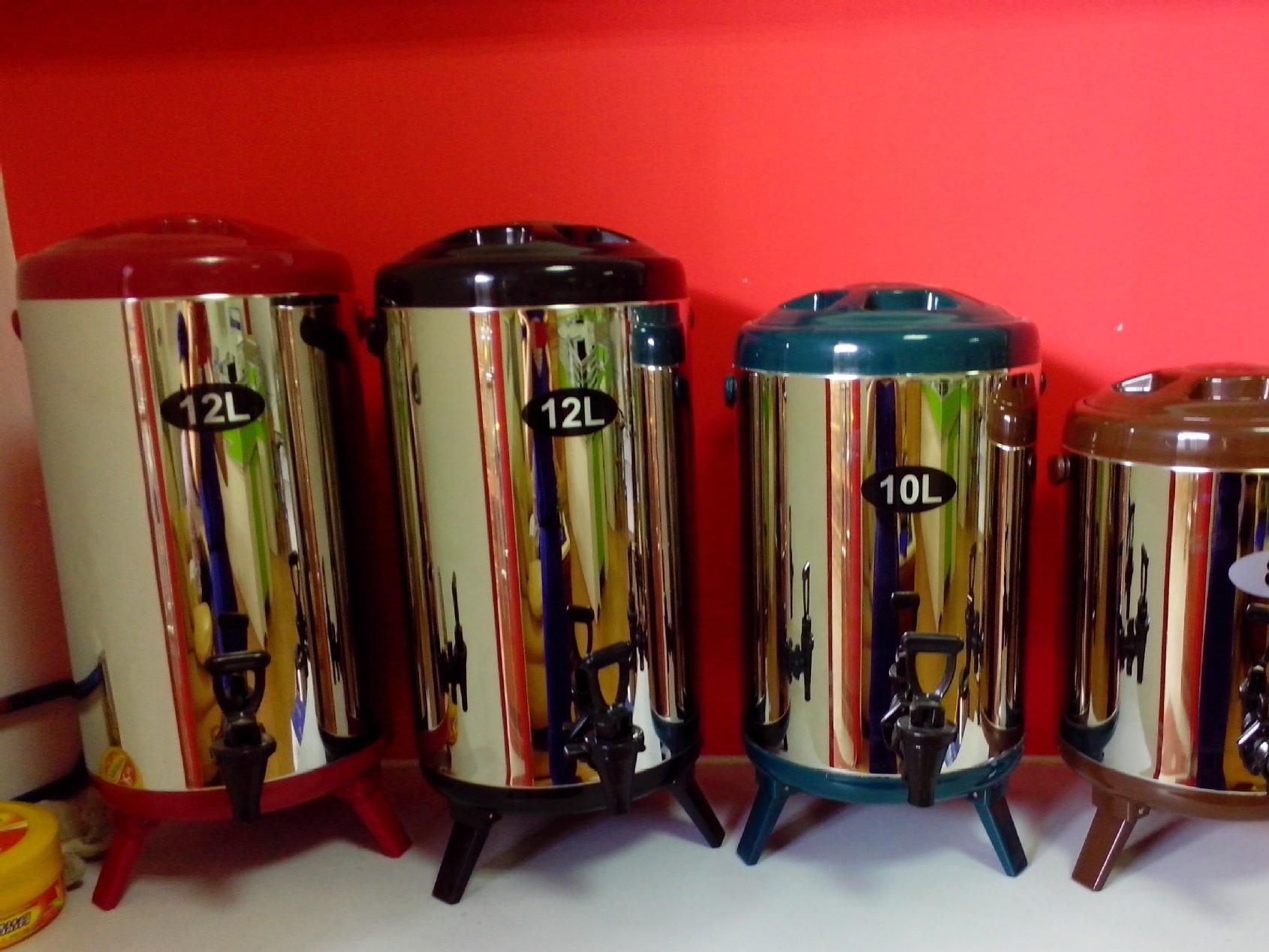 佛山不锈钢发泡双层保温桶厂家 304不锈钢奶茶保温桶 10L彩色