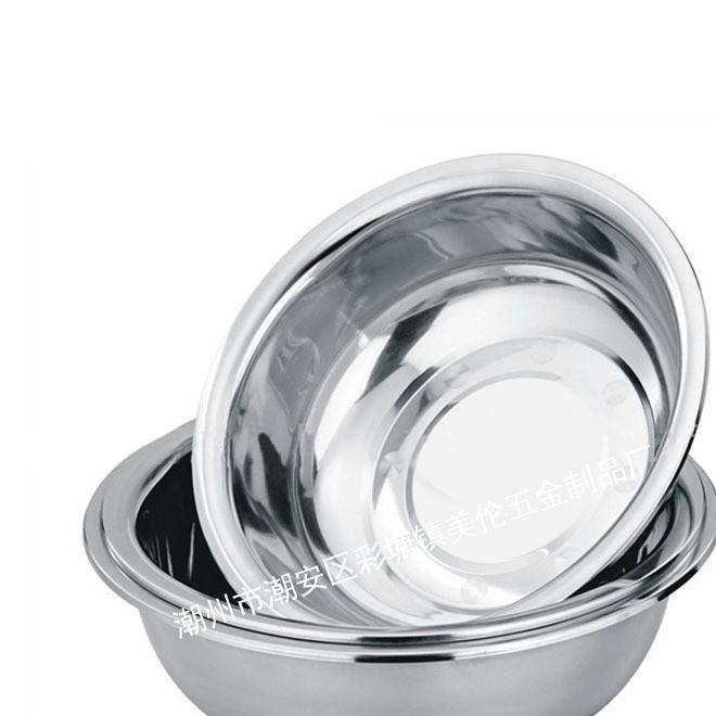 厂家直销 不锈钢反边面盆 面盆 大反边斗盆 汤盆 礼品