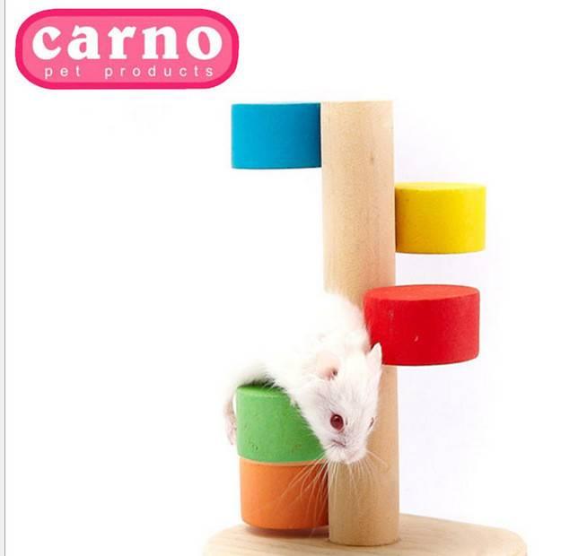 仓鼠玩具仓鼠用品carno仓鼠彩云梯小宠木质玩具金丝熊小宠用品