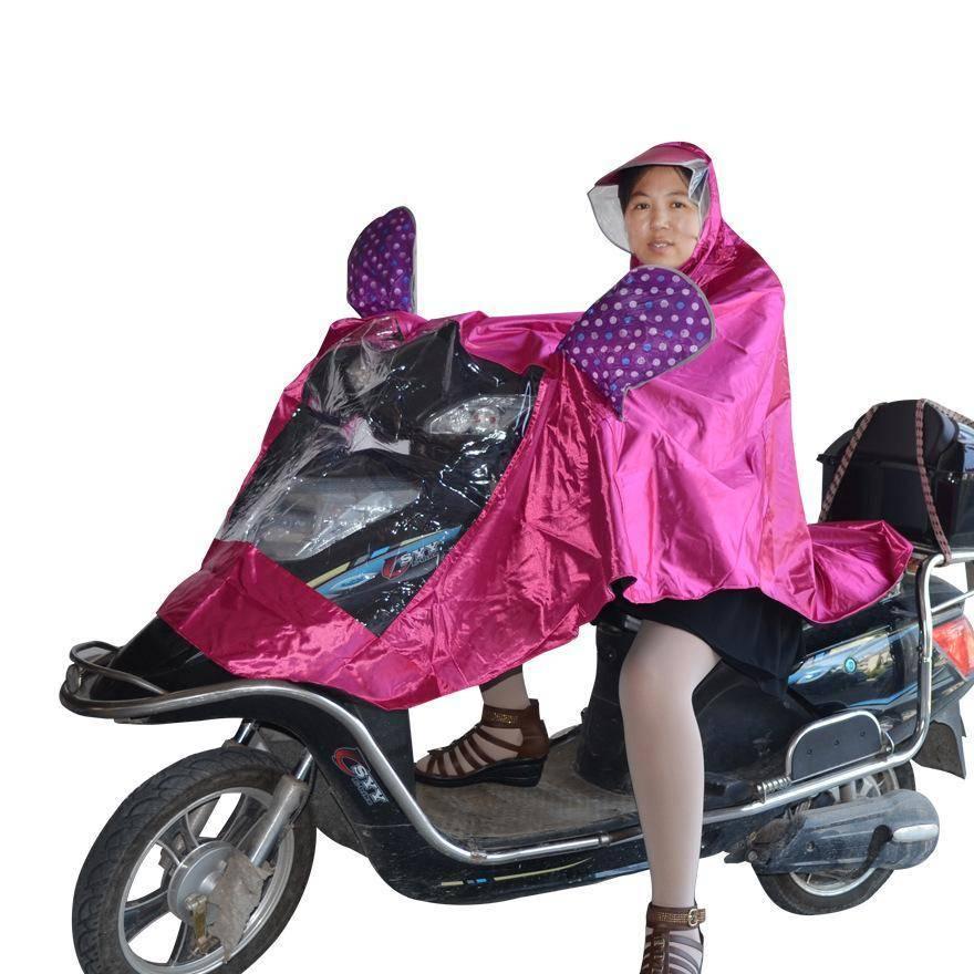 厂家直销雨衣雨披大帽檐雨衣 色丁绸缎单人雨披 电摩专用雨披
