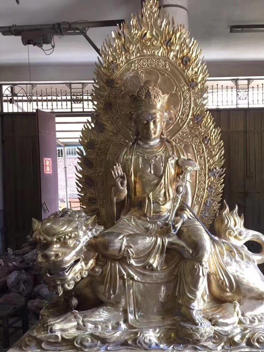 厂家热销 大型铜像 雕塑锻铜雕塑石雕大型雕塑站佛像 可定制