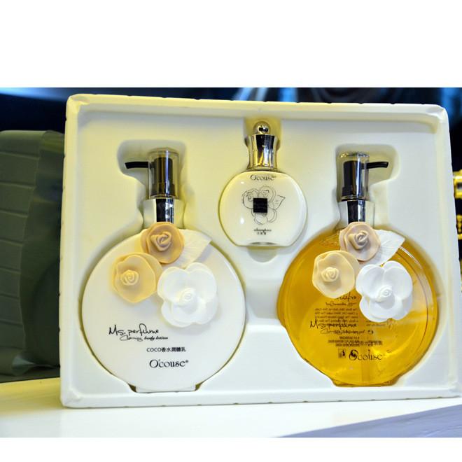 澳蔻斯COCO邂逅香水护理套装沐浴露+身体乳+洗发水送女友礼品套盒