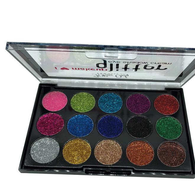 厂家直销正品GLAZZI15色 眼影金葱粉闪光多色眼影彩妆化妆品批发