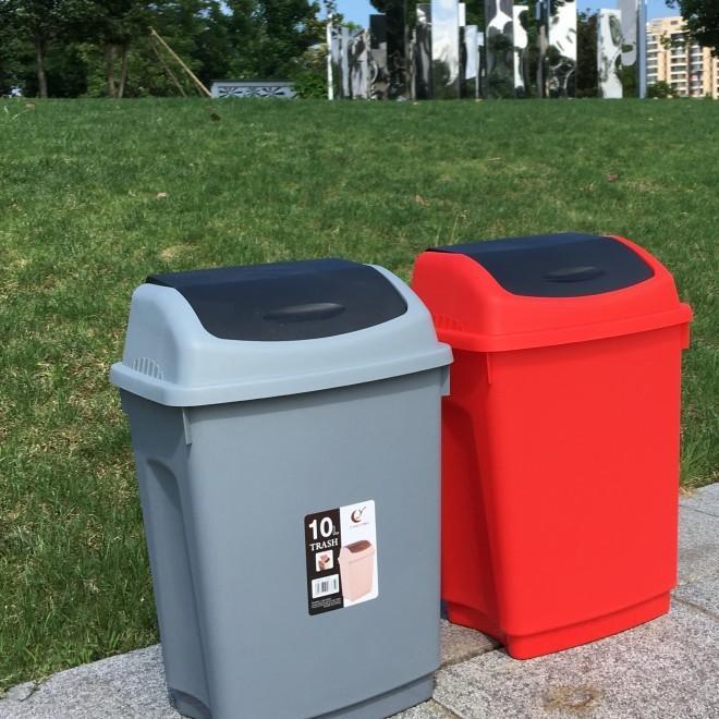 厂家批发10升塑料分类垃圾桶 盘锦塑料垃圾桶 大连塑料家用垃圾桶