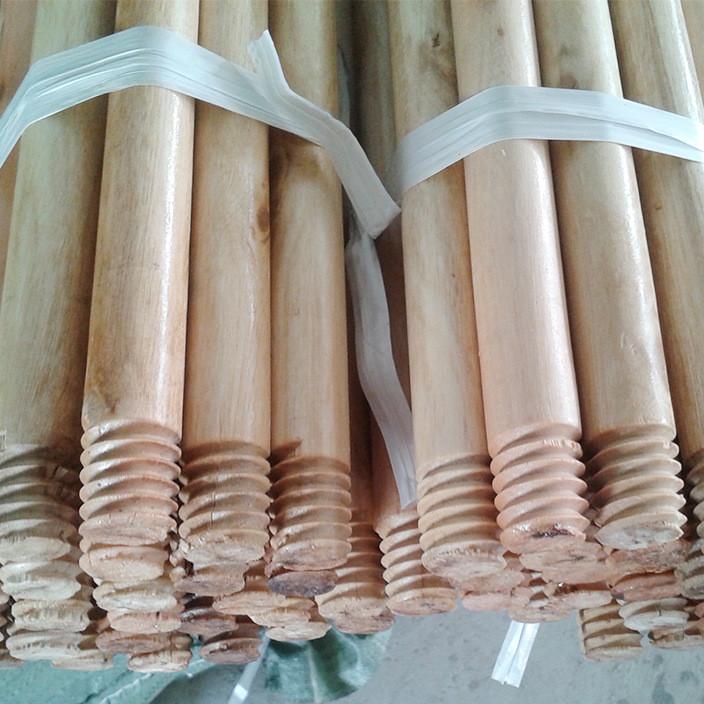 木柄厂家定制 原木家用扫把杆木制  拖把扫帚杆供应