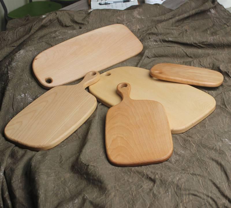 实木带手柄切菜板 厨房烘焙砧板托盘 榉木面包板案板 厂家可定制