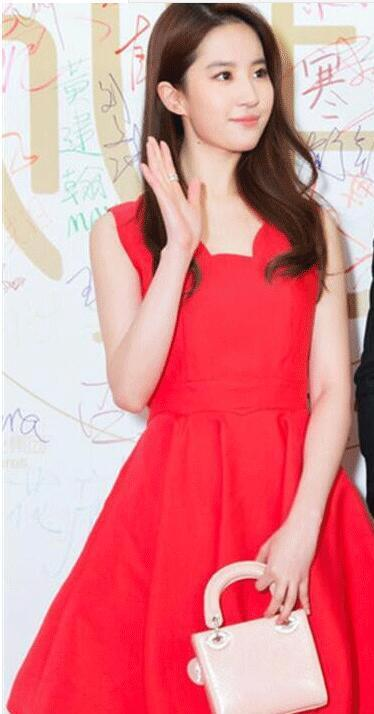 Liu yifei stars with the same little dress dress girls summer 2019 temperament of a type party dress