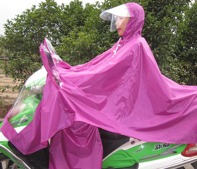 雨衣电动车雨衣成人加大加厚雨披男女士单人电瓶车雨衣双帽檐