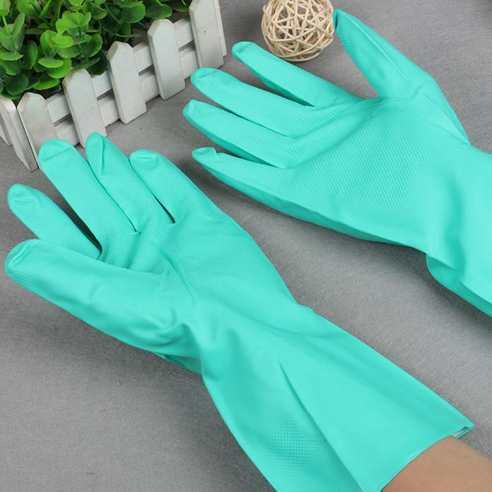 厂家直销丁晴乳胶手套天然乳胶加厚防滑手套工业耐磨劳保防护手套
