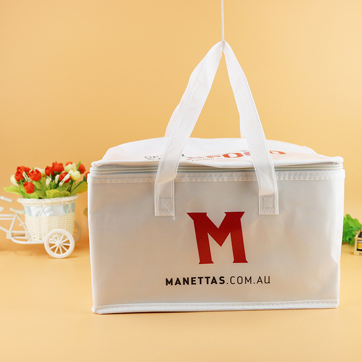 Customized non-woven food delivery insulation bag takeout food preservation bag coke cold drink ice preservation ice pack