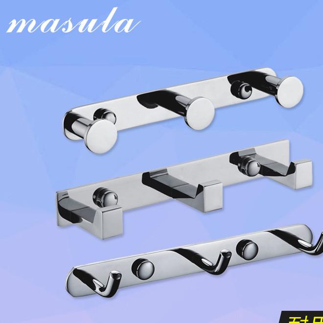 厨卫挂件 SS304不锈钢挂钩挂件 日用实用现货 304镜面实心挂钩