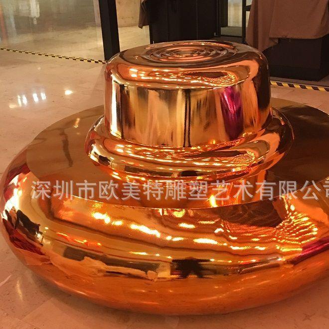 大型万达营销中心不锈钢电镀坐凳雕塑 连锁酒店装饰品 金属雕塑
