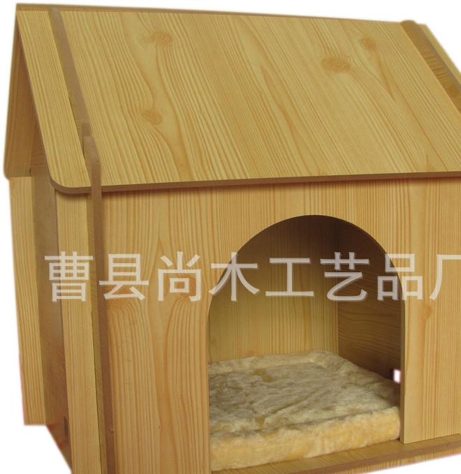 批发实木精致宠物窝 别致可爱小宠用品狗笼子 宠物笼狗窝 木制